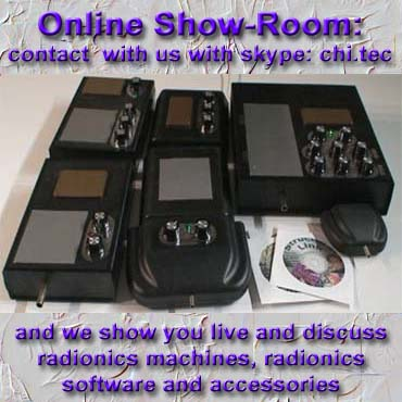 radionics machines showroom